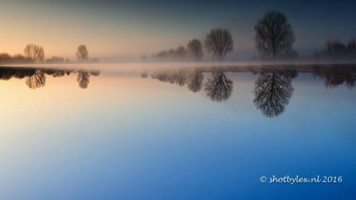 In voller Pracht: Maas im Winter vor dem Unfall