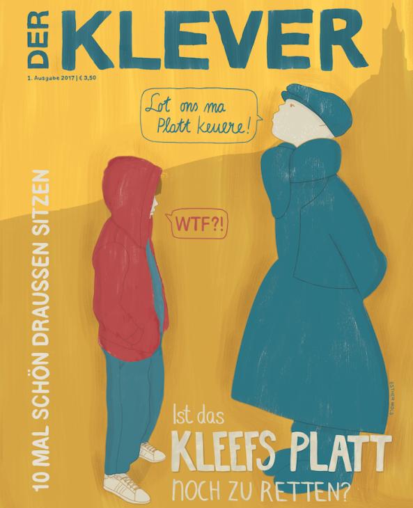 Sieht aus wie gemalt – und ist es auch: Cover der neuen Ausgabe des KLEVER