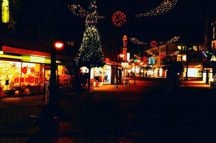 Relativ leer: Winterwunderland Kleve, Freitag Abend (Foto © C. Stoffels)