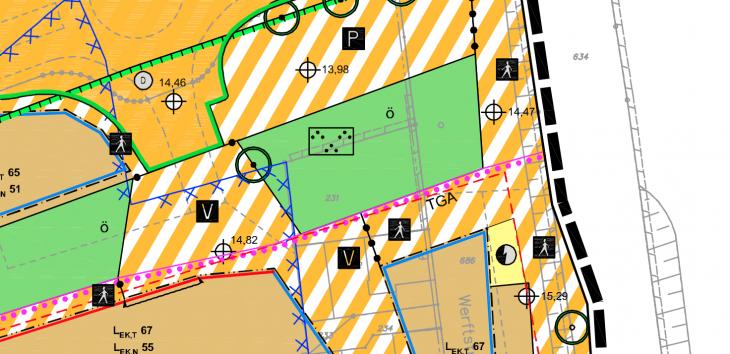 Da hast du ein Baugrundstück, und plötzlich ist es eine öffentliche Grünfläche!