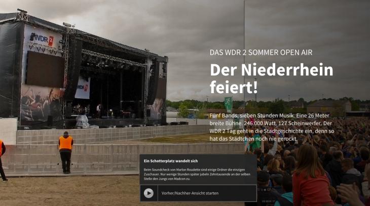Mit einem Klick aufs Bikd geht es zur Multimediareportage des WDR