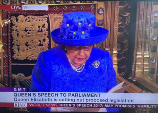 Clealry the EU inspires some in the UK, kommentierte Guy Verhofstad das genähte Bekenntnis zu Europa, das die Queen bei ihrer Rede trug