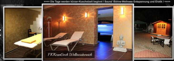 Die Tage werden kürzer: Screenshot der Website des Saunaclubs FKK van Goch