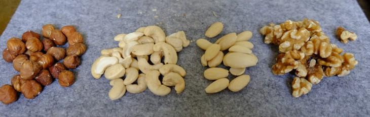 Bei Cashewkernen und Mandeln besteht eine gewisse Verwechslungsgefahr