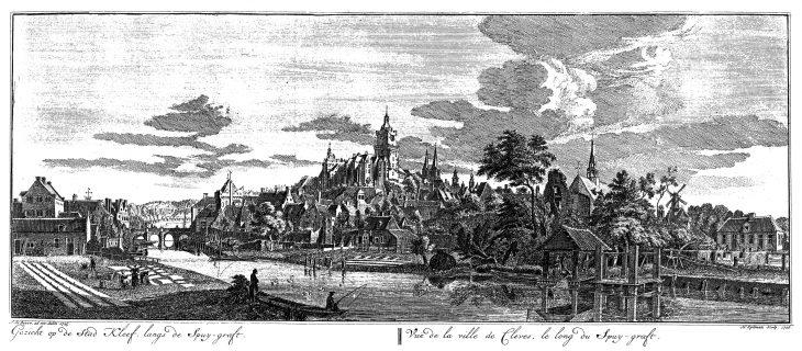 Als Jan de Beyer über die Spoy Richtung Burg blickte, war der Kanal schon ein halbes Jahrtausend alt