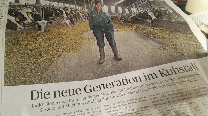 New Generation: Judith Siebers im Großstall (Ausriss des RP-Artikels)