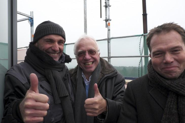121 Meter über Normalnull, -2 Grad Celsius, Daumen auf 12 Uhr: Georg Janßen und Theo Brauer