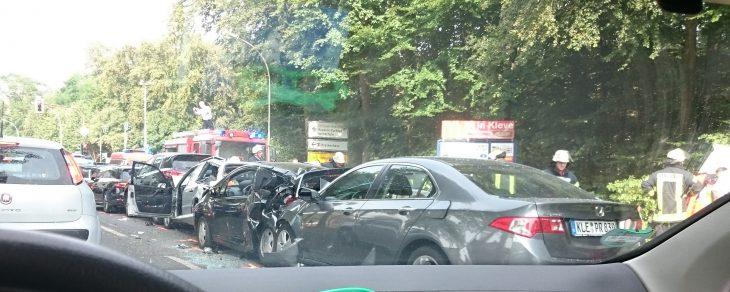 Der Unfall aus der Sicht von Autofahrern… (Foto: M. Daute)
