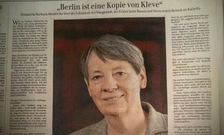 Kleve, ca. 36P unkt groß, in der Berliner Zeitung