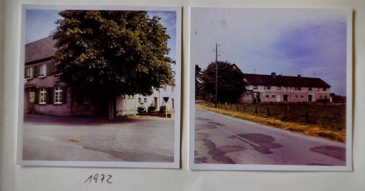 1972, fremde Welt, unter anderem noch mit einer Kastanie am Straßenrand