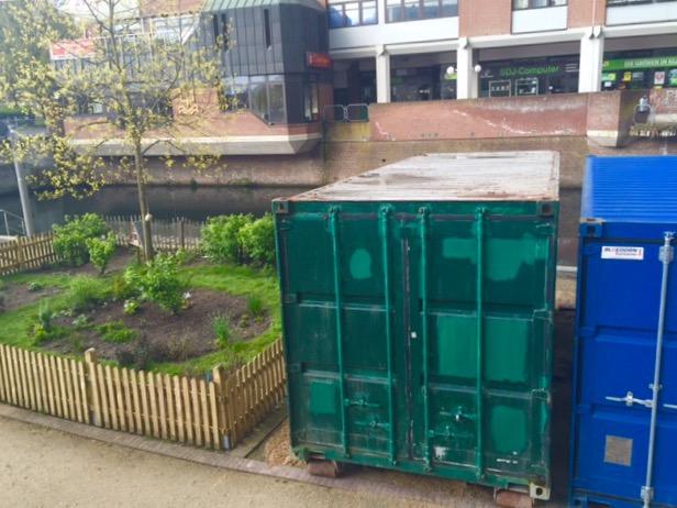 Die trübe Realität: Begrünung durch Container