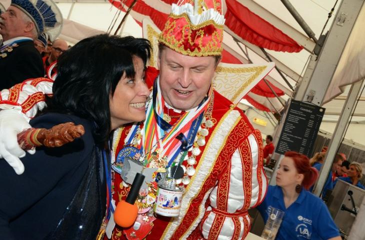 Bürgermeisterin Sonja Northing, Karnevalsprinz Helmut Vehreschild: Zwei Überraschungssieger