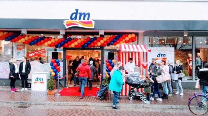 10 % Eröffnungsrabatt zieht immer: DM am neuen Standort