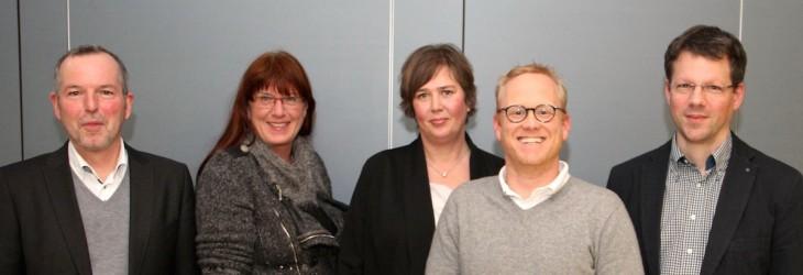 Gruppenbild mit zwei Damen: Das neue KCN-Führungsteam: Klaus Fischer, Ute Marks, Christoph Dammers, Astrid Vogell und Sven Verfondern (Foto: Olaf Plotke/Kurier am Sonntag)