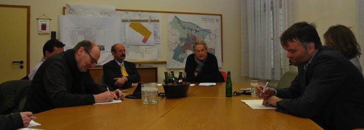 Raum für Visionen: Pressekonferenz im Fraktionszimmer der CDU (Foto © Kleinendonk)