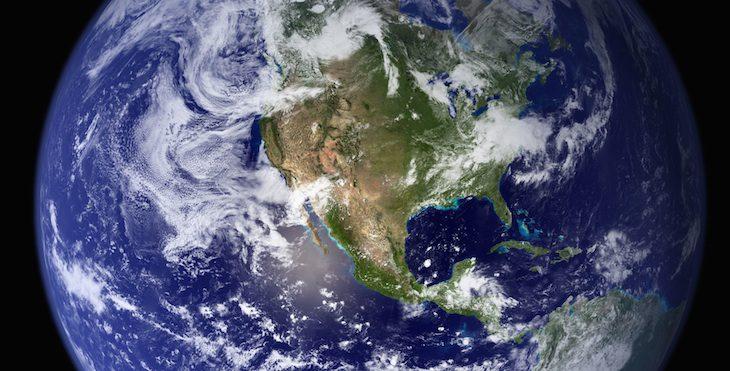 Von oben sind selbst die USA schön anzusehen (Foto: NASA/Apollo 17)
