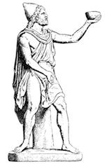 Odysseus reicht dem Kyklopen Polyphem eine Schale mit starkem Wein – wer ist wer in diesem Metaphernsalat?