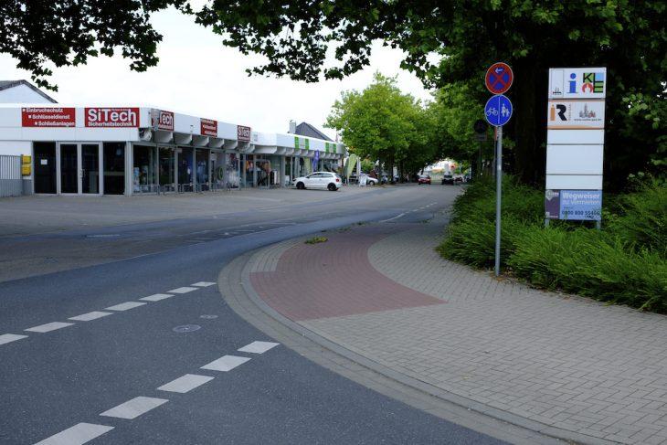 Fünf Meter Spezialradweg an der Flutstraße