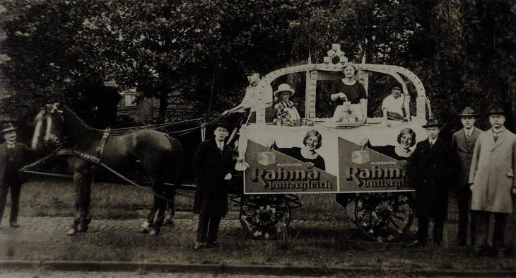 Mit einer großen Werbekampagne wurde 1924 Rama auf den Markt gebracht