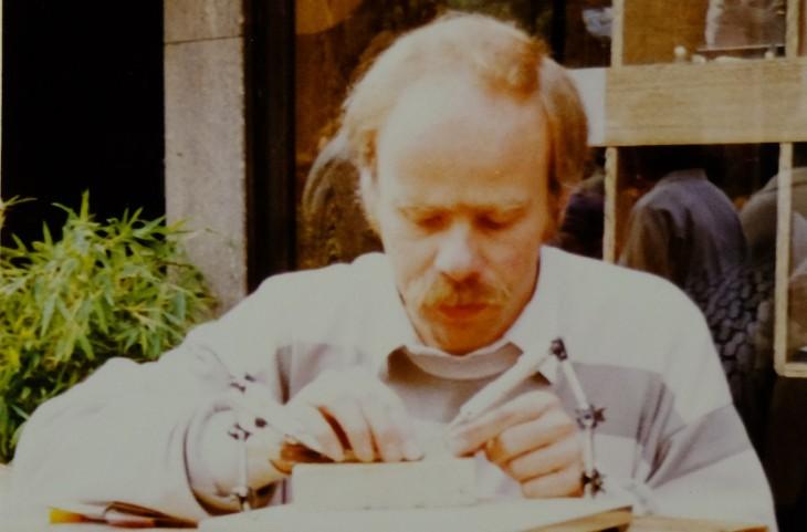 So kannten ihn die Kunden der frühen Jahre: Josef Schmidthausen bei der Arbeit