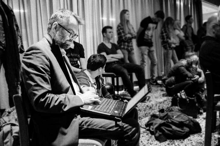 Der Blogger bei der Arbeit…