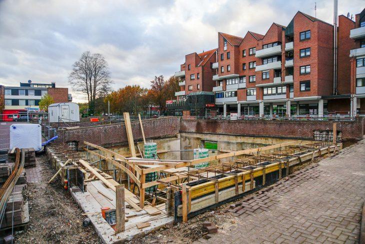 Baustelle Opschlag: Etwas Stahlbeton hätte dem Bau gut getan (Foto: Thomas Velten)