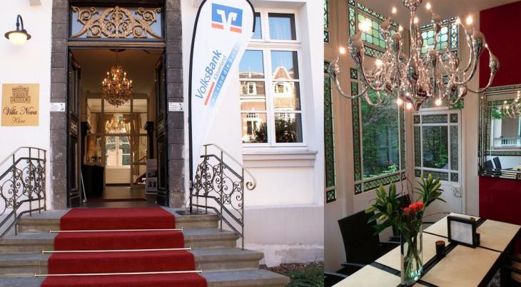 Link der Eingang der Villa Nova, rechts das Interieur des T42