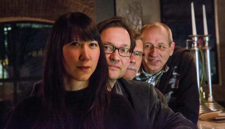 Das neue Führungsquartett der Klever Jazzfreunde, ansprechend in Szene gesetzt