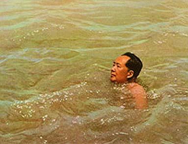Mao badet im Gelben Fluss
