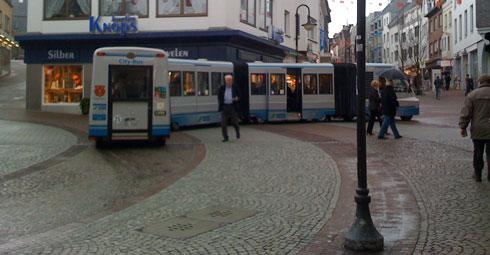 Wirkt edel: der neue City-Bus (ehemals City-Train)